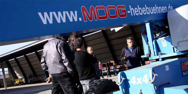 Moog Schulung für Hebebühnen